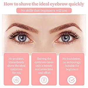 Eyebrow Trimmer, Painless Eyebrow Epilator Flawless Brows Hair Remover Portable Eyebrow Hair Remover Razors with Light and USB Charging
