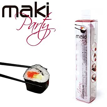 maki party complete sushi kit with mould for 6 makis business industry science. Black Bedroom Furniture Sets. Home Design Ideas