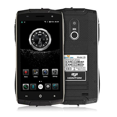 HOMTOM ZOJI Z6 3G Smartphone Ohne Vertrag 4.7 Zoll CNC-Metallrahmen IP68 Wasserdicht Stoßfest Staubdicht Quad Core Dual SIM 1GB RAM+8GB ROM GPS 9.9 MM Dick 8MP Kamera Android 6.0 Fingerabdrucksensor