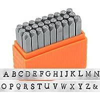ImpressArt- Basic Newsprint Uppercase Letter Metal Stamp Set by ImpressArt Metal Stamps