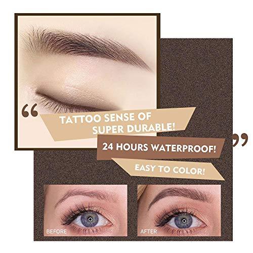 KOBWA Lápiz de cejas líquido con cuatro puntas de larga duración,  resistente al agua,  para cejas,  cejas,  cejas,  gel,  para maquillaje de ojos