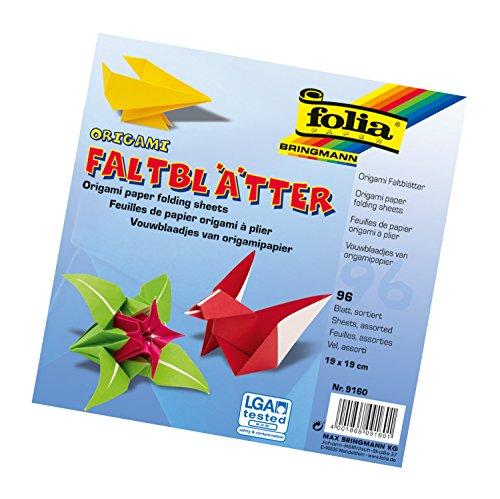 bunt Doppelseitiges Origami-Papier f/ür Kunst- und Bastelprojekte 100 Blatt 10 x 10 cm