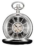 KS Unisex Golden Taschenuhr Mechanische Uhr Handaufzugswerk mit Kette und