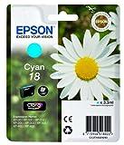 Epson Original T1802 Tintenpatrone Gänseblümchen, Claria Home Tinte, Text- und Fotodruck (Singlepack) cyan