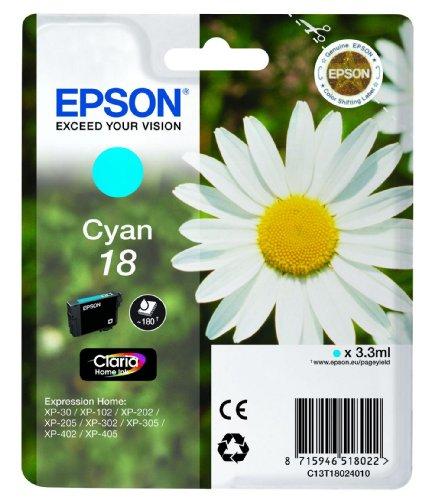 Epson C13T18024010 - Cartucho de tinta, cian