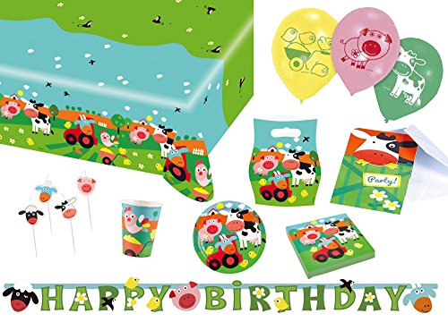 Amscan 9050 0314 Party Set Geschirr Farm (Supplies Geburtstag Party Bauernhof)