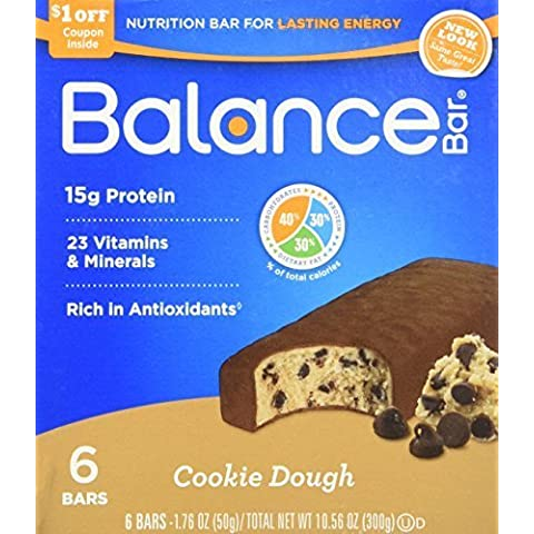 Balance Cookie Dough Nutrition Energy Bar, 6