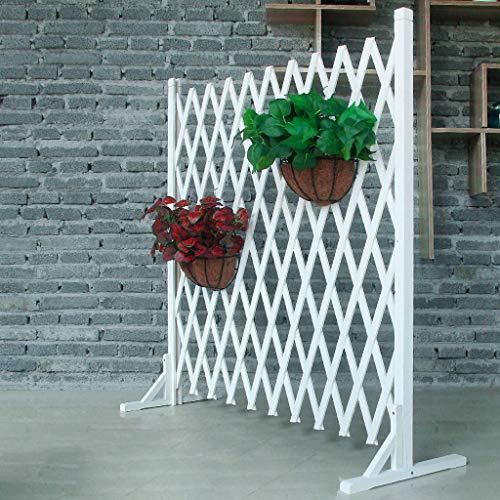 NLMWL-Y Anti-Korrosions-Holzzaun, erweiterte Zaun Space Separation Barrier, Outdoor Extended Zierzaun White 70 * 120cm