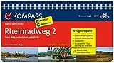 Rheinradweg 2, von Mannheim nach Köln: Fahrradführer mit Top-Routenkarten im optimalen Maßstab. (KOMPASS-Fahrradführer, Band 6276)