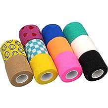"lenhar 2""veterinario cinta Wrap Bulk, Auto adherente Wrap cinta, Self Adhering Stick de compresión para vendaje una herida tobillo apoyo o médico supplies-11rollos"