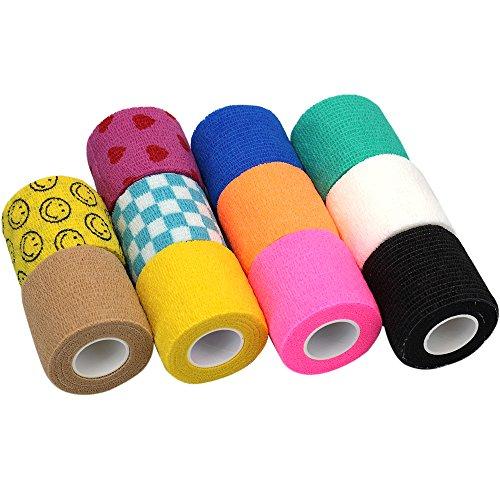 lenhar 5,1cm vet Tape Bulk, selbst den Wickeln Tape, selbst haftende Stick Bandage für Verbände eine Wunde Knöchelbandage oder Medical supplies-11Rollen (Wrap-self-stick)