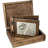 75hojas ambos lados plegable álbum con estuche de madera Biblia Diseño y 2alianzas