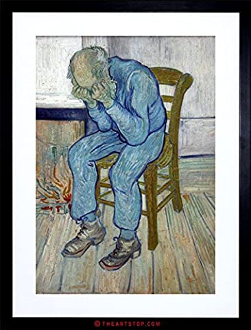 PAINTING VAN GOGH ETERNITY'S GATE OLD MASTER FRAMED PICTURE ART PRINT F97X9664