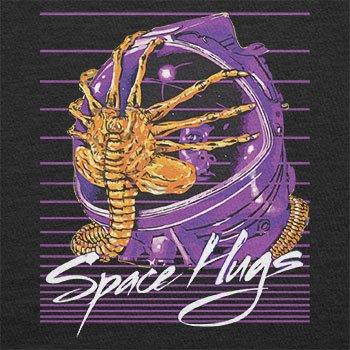 NERDO - Space Hugs - Herren Langarm T-Shirt Schwarz