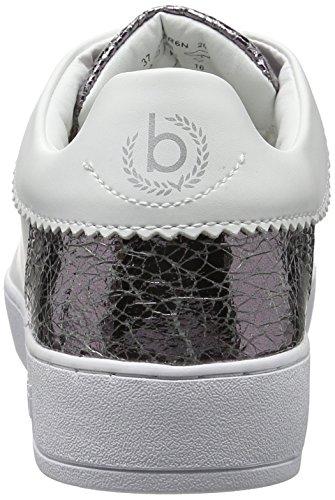 Bugatti J7608pr6n, Scarpe da Ginnastica Basse Donna Bianco (Weiss / Silber 207)