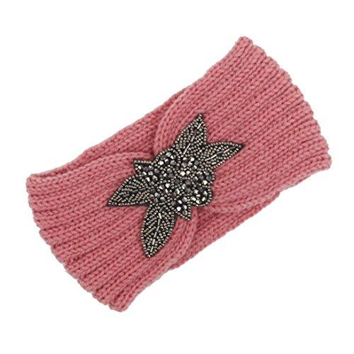 Circa Bad (BZLine® Frauen stricken Strick Stirnband Winter Warm Haarband Wrap Pink (Pink))
