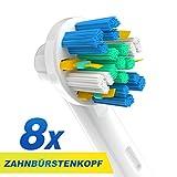 CARETIST - Cabezales de recambio Floss Action para cepillos de dientes eléctricos Oral-B, compatibles con Oral-B EB25, totalmente compatibles con Oral-B Vitality, Professional Care y otros cepillos de dientes eléctricos )