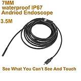 USB HD endoscope, VLIKE 6lumières LED étanche Android endoscope Serpent Camera pour Android OTG par micro USB & Compatible avec PC