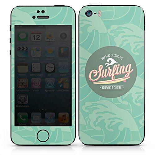 Apple iPhone SE Case Skin Sticker aus Vinyl-Folie Aufkleber Surfen Sommer Welle DesignSkins® glänzend