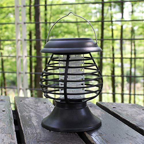 FeiliandaJJ Tragbar LED Solar Lichter Insektenvernichter Garten Licht Wasserdicht Outdoor Einsetzen Boden Solar Rasen Gartenleuchten Außen Haus Deko (Schwarz)