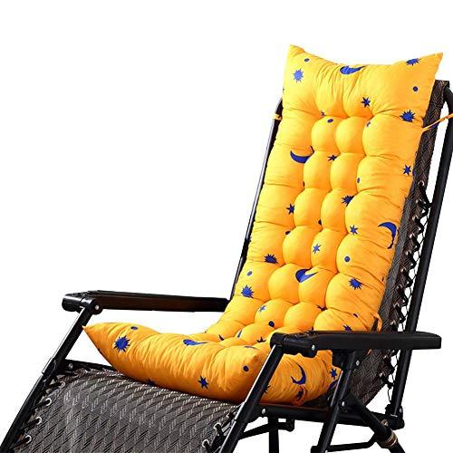 Wetour imbottito per sedia reclinabile esterno da giardino cuscino sedie a sdraio cuscino imbottito per sedia reclinabile con 125x48x8cm