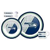 NFL Kids Dinner Set of 5/5tlg. Kindergeschirr-Set (Seattle Seahawks)
