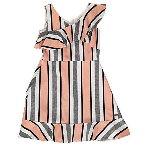 Firetrap Mädchen Kleid mit Rüschen, gestreift, 4-13 Jahre Gr. 6-7 Jahre, Rose Stripe
