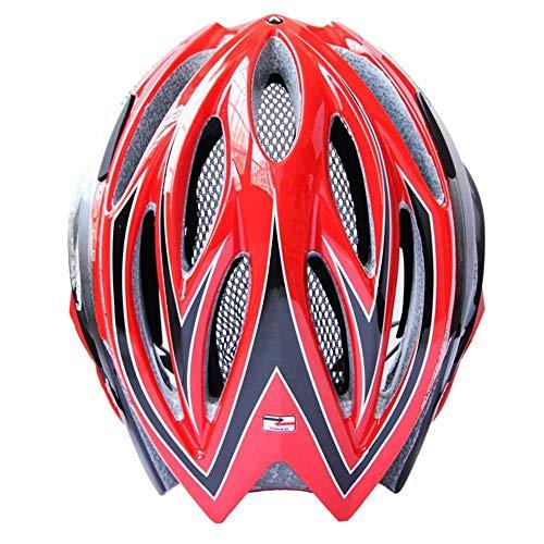 Y-YT Fahrradhelm Mountain-Bike-Rennrad-Reithelm LED Licht einstellbar mit Sicherheit Helm 58-62cm