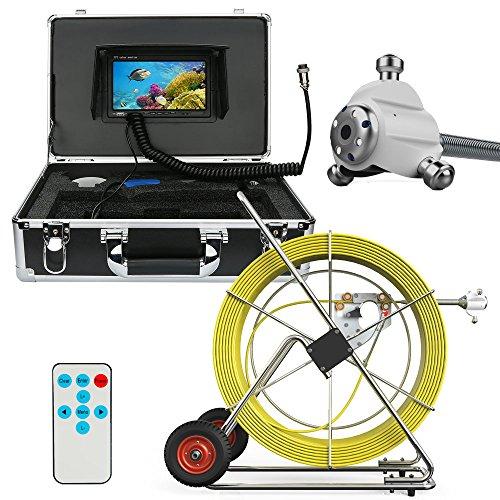 WG 80 Mt 100 Mt 120 Mt 160 Mt Kanalisation wasserdichte Kamera Rohrleitung Abfluss Inspektionssystem 7
