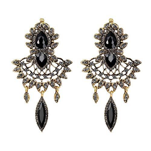 MOTOCO Mode Zirkon Ohrringe Diamantbesetzter Liebesherzohrring für Mädchen(O)