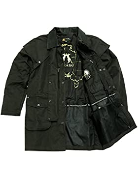 Cacatúa Australia Iron Bark Drovers Jacket oilskin Cera Chaqueta hasta 5X l