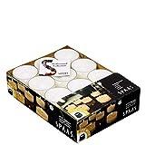 Spaas 24 Maxi-Teelichter ohne Duft, in transparenter Klartasse, Paraffinwachs, Kunststoff, weiß, D 57 mm x H 28 mm