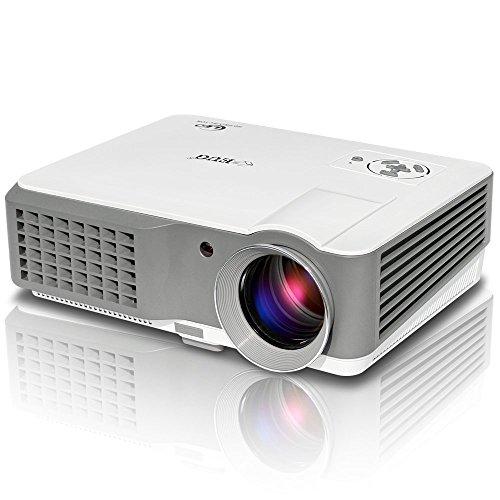 2600 lumens projecteur LCD, vidéo projecteur multimédia home cinéma prend en charge 1080P USB VGA HDMI pour les jeux pour ordinateur portable home cinéma TV Smartphone