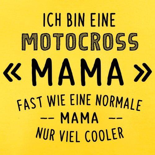 Ich bin eine Motocross Mama - Herren T-Shirt - 13 Farben Gelb