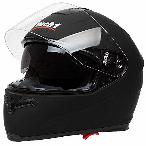 Mach 1 Integralhelm Helm Motorradhel mit Integrierter Sonnenblende ECE R 22.05 Größe XS bis XXL...