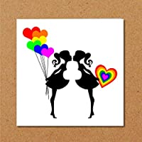 LESBIAN VALENTINES DAY CARD or ENGAGEMENT WEDDING Card - LGBT Gay Rude getting married - Congratulations Card - wed, same sex couple - alternative cheeky - women female