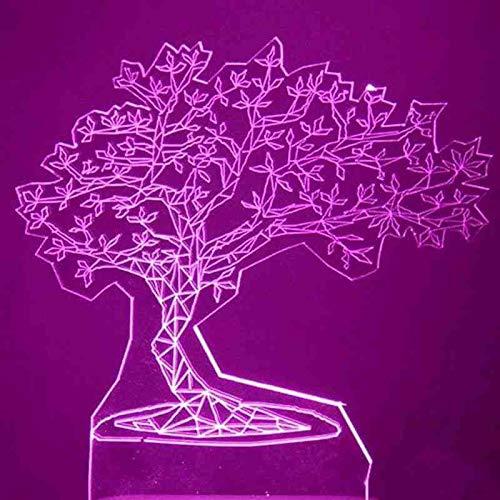 CDBAMX 3D Usb Visuelle Led Bunte Kiefer Modellierung Nachtlicht Innendekor Atmospher Tischlampe Kreative Schlaf Leuchte Geschenke