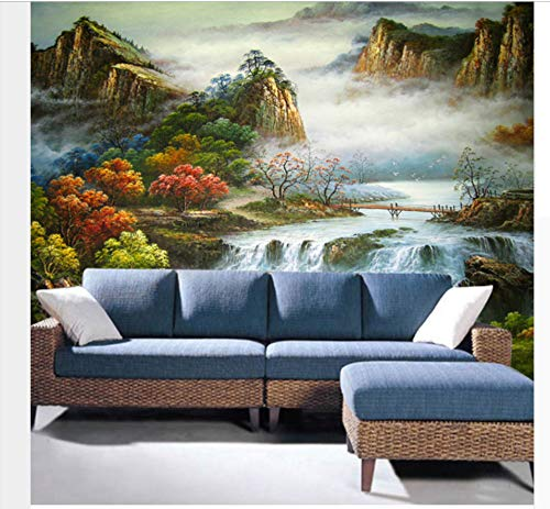 3D Landschaft Tapete Foto Wandbild Papier Ölgemälde Für TV Wohnzimmer Hintergrund Benutzerdefinierte Fototapeten350x256cm