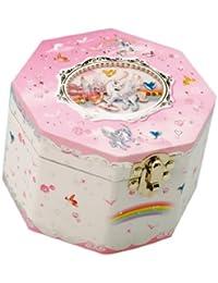 """Musicboxworld 28046 Unicorn Jewellery Box Playing """"Swan lake""""."""