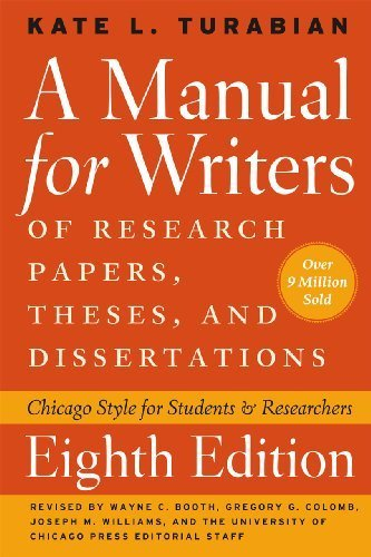 eBookStore New Release: A Manual for Writers of Research Papers, Theses, and Dissertations, Eighth Edition: Chicago Style for Students and Researchers (Chicago Guides to Writing, Editing, and Publishing) by Turabian, Kate L. (2013) Paperback PDF