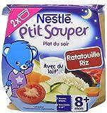 Nestlé Bébé P'tit Souper Ratatouille Riz Plat du soir dès 8 mois 2 x 200g - Lot de 8