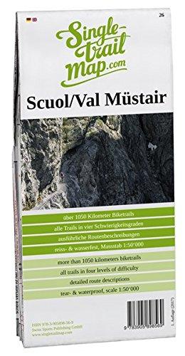 Singletrail Map 026 Scuol/Val Müstair: Das Kartenblatt Scuol/Val Müstair umfasst das gesamte Münstertal und Teil der oberen Vinschgaus. Es enthält ... bekanntesten Mountainbike-Karten der Alpen.)