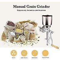 Zerone Molino de la amoladora del grano, molino ajustable maíz trigo grano café tuerca amoladora