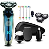 Smart Shaving System : All-in-1 Rechargeable Electric Shaver Electric Razor For Men Beard Face Shaving Machine...