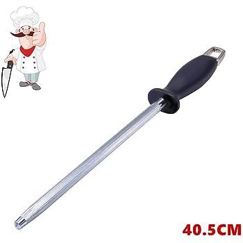 Affilacoltelli di coltelli, Pootack Affilacoltelli Professionale 25.5cm, barre in diamante per affilare lame dritte da smussato ad affilato come un rasoio