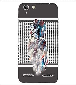 PrintDhaba Mysterious Girl D-2710 Back Case Cover for LENOVO LEMON 3 (Multi-Coloured)