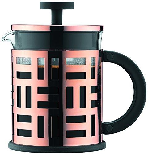 Bodum Eileen Kaffeebereiter 4 Tassen, Kupfer, Pink, 10.6 x 16 x 16 cm