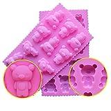 YOKIRIN Stampo in silicone accessorio fondente decorazione della torta stampi per il cioccolato, stampi zucchero Torte, stampi di sapone (forma di 11 orsi)