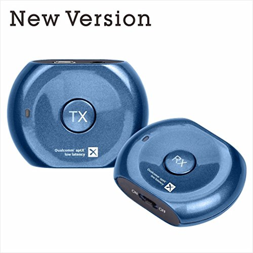 Avantree Lock PLUG & PLAY aptX LOW LATENCY Bluetooth Transmitter and Receiver Set for TV and Headphones Speaker, Bluetooth Repeater Booster Extender [ Pre Paired no pairing needed]