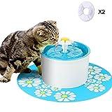 Aolvo Bebedero Automático Silencio, Fuente de Agua para Perros/Gatos, con 1.6L Circulante, 2...